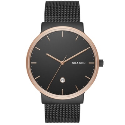 Picture of Skagen Ancher Gray Mesh Watch with Gray Sunray Dial