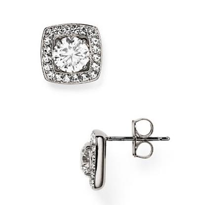 Picture of Nadri Framed Cubic Zirconia Stud Earrings