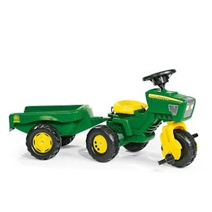 Picture of Kettler John Deere Three-Wheel Tractor with Trailer