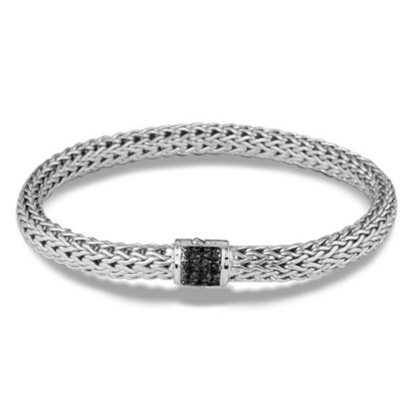 Picture of John Hardy Classic Chain Silver Black Sapphire Bracelet