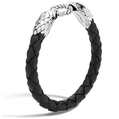 Picture of John Hardy Men's Eagle Legends Leather Bracelet - Black