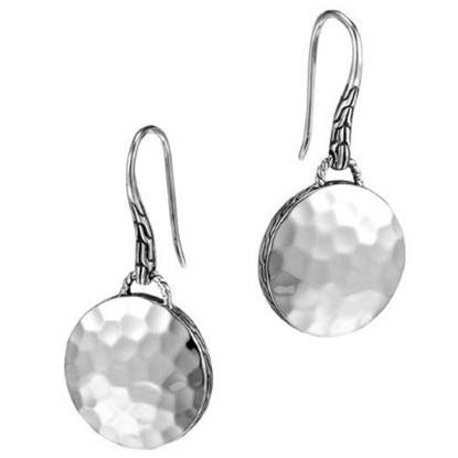 Picture of John Hardy Dot Silver Round Drop Earrings