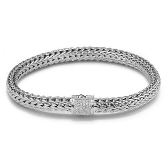 Picture of John Hardy Classic Chain Diamond Bracelet - Silver