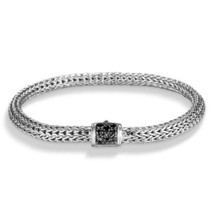 Picture of John Hardy Classic Chain XS Black Sapphire Bracelet - Silver