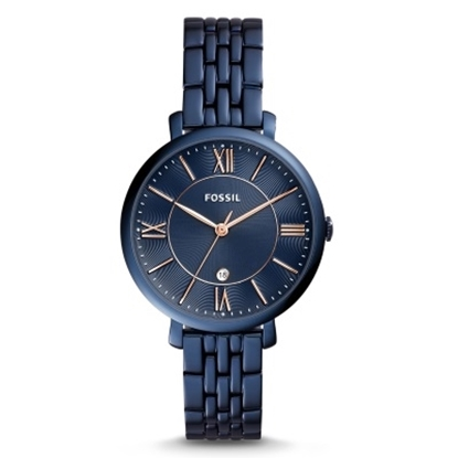 Picture of Fossil Jacqueline Blue Stainless Steel Watch with Blue Dial