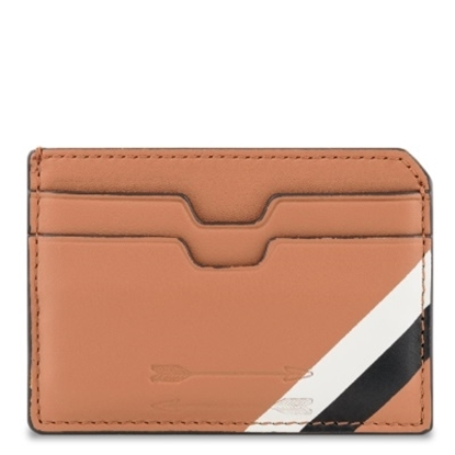 Picture of Uri Minkoff Nikko Cardholder - Almond with Ecru/Black Stripe
