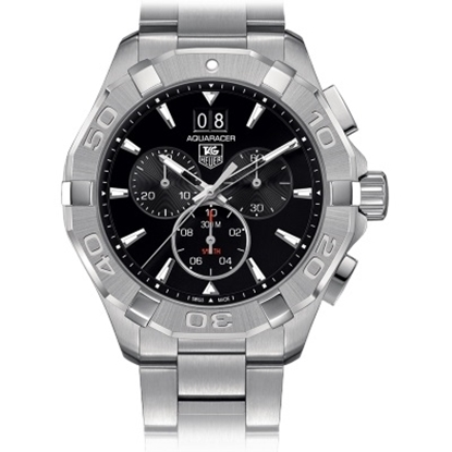 Picture of TAG Heuer Aquaracer 43mm Quartz Chrono with Black Dial