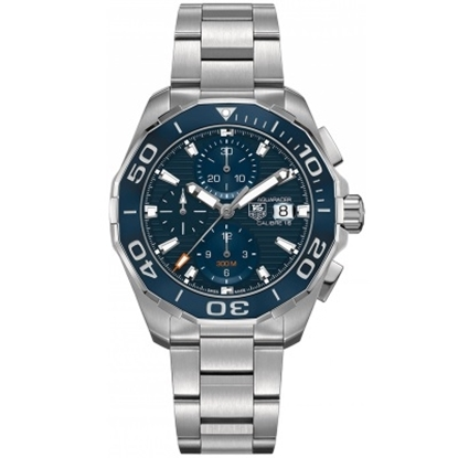 Picture of TAG Heuer Aquaracer 43mm Auto Chrono with Blue Dial