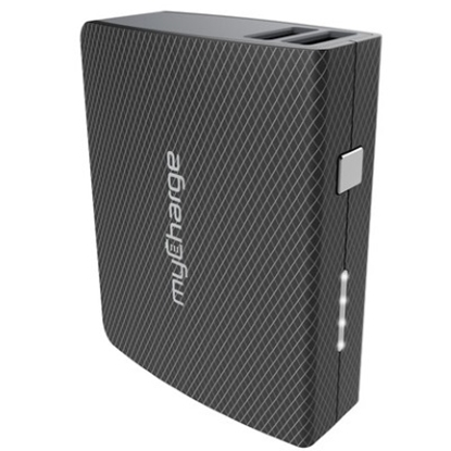 Picture of MyCharge 6700mAh AmpMax with Two USB Ports - Black
