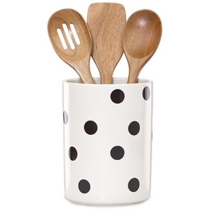 Picture of Kate Spade All in Good Taste Deco Dot 4PC Utensil Set w/ Crock