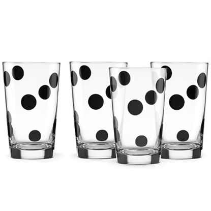 Picture of Kate Spade All in Good Taste Deco Dot Glasses - Set of 4