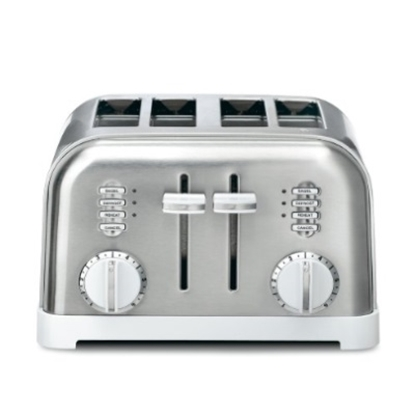 Picture of Cuisinart® 4-Slice Metal Classic Toaster - White/Stainless