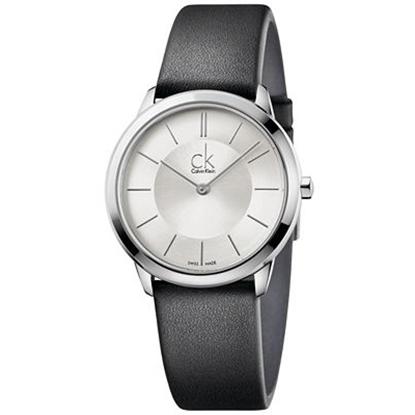 Picture of Calvin Klein Ladies' Minimal Black Leather Strap Watch