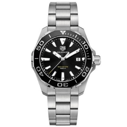 Picture of TAG Heur Aquaracer Quartz Stainless Steel Watch w/ Black Dial