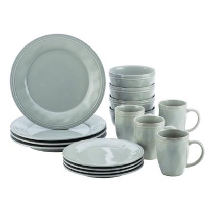 Picture of Rachael Ray 16-Piece Stoneware Dinnerware Set - Sea Salt
