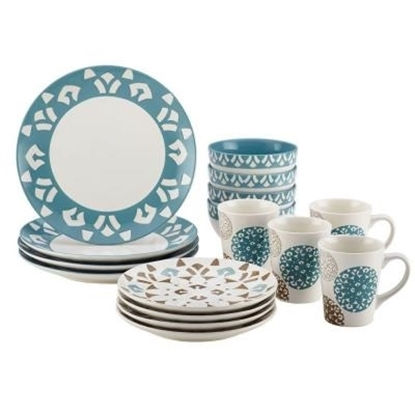 Picture of Rachael Ray 16-Piece Stoneware Dinnerware Set - Pendulum