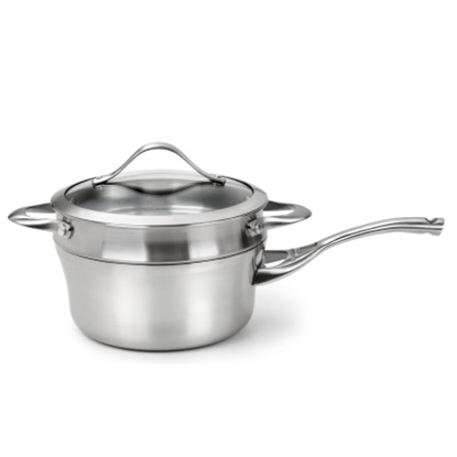 Picture of Calphalon Stainless 2.5-Qt. Sauce Pan w/ Double Boiler Insert