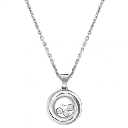 Picture of Chopard Happy Diamonds White Gold Happy Emotions Round Pendant