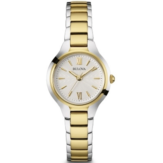 Picture of Bulova Ladies' Two-Tone Bracelet Watch with White Dial
