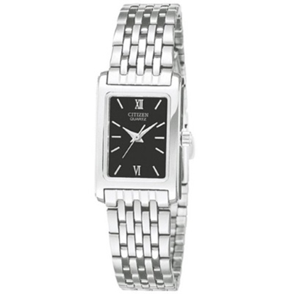 Picture of Citizen Quartz Ladies' Stainless Steel Watch with Black Dial