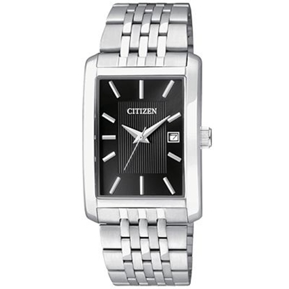 Picture of Citizen Quartz Men's Stainless Steel Watch with Black Dial