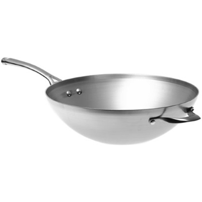 Picture of Calphalon Contemporary Stainless Steel 13'' Flat Bottom Wok