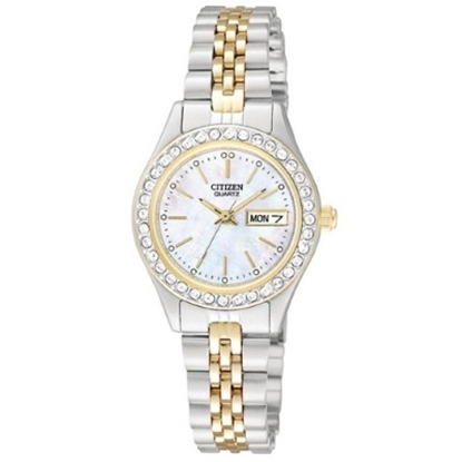 Picture of Citizen Ladies' Quartz Two-Tone Watch - Mother-of-Pearl Dial