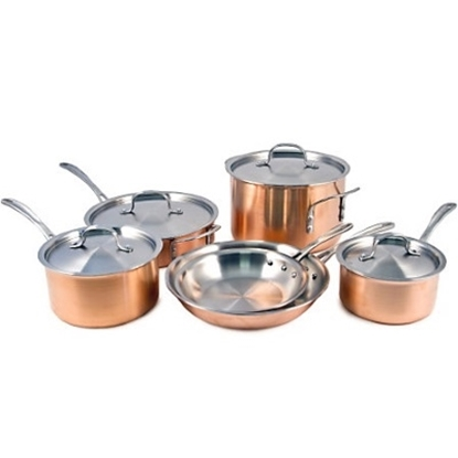 Picture of Calphalon® Tri-Ply Copper 10-Piece Cookware Set