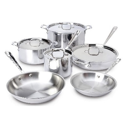 Picture of All-Clad 10-Piece Stainless Steel Cookware Set