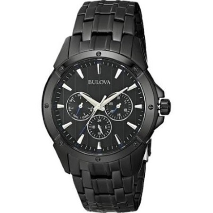 Picture of Bulova Men's Black Watch with Blue Accented Dial