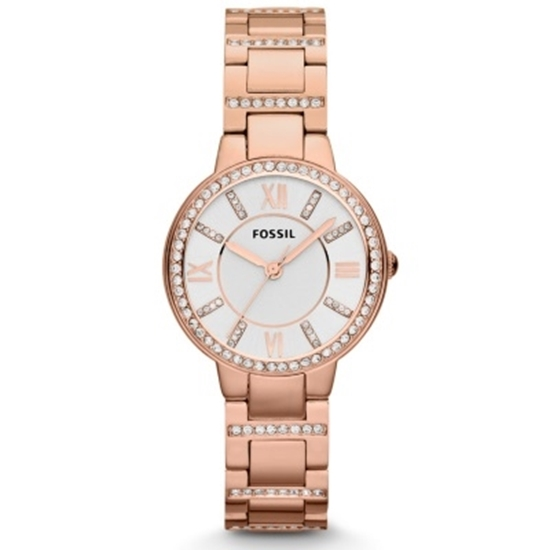 Picture of Fossil Ladies' Virginia Three-Hand Rose Gold Watch