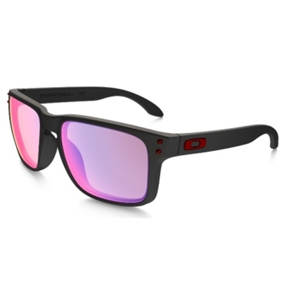 Picture of Oakley Holbrook™ Sunglasses - Matte Black/Red Iridium