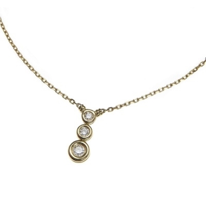 Picture of Scott Kay 18K Yellow Gold Necklace - .26CTW