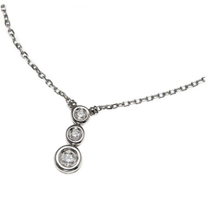 Picture of Scott Kay 18K White Gold Necklace - .26CTW