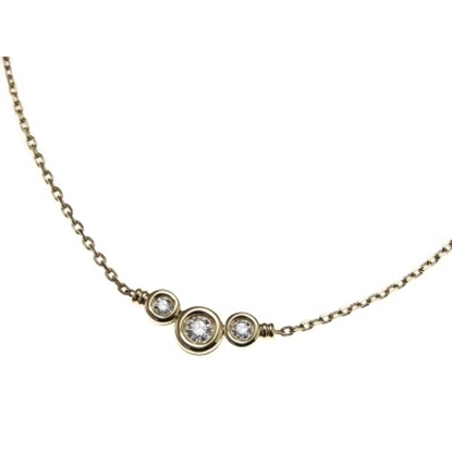 Picture of Scott Kay 18K Yellow Gold Necklace - .25CTW