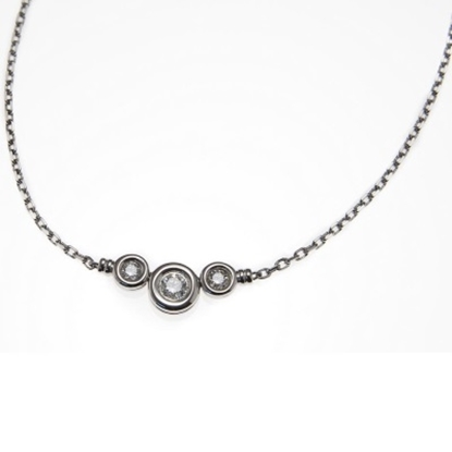 Picture of Scott Kay 18K White Gold Necklace - .25CTW