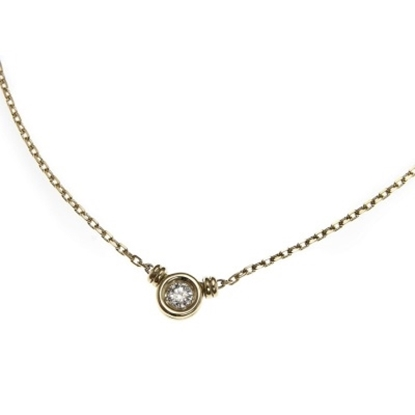 Picture of Scott Kay 18K Yellow Gold Necklace - .15CTW