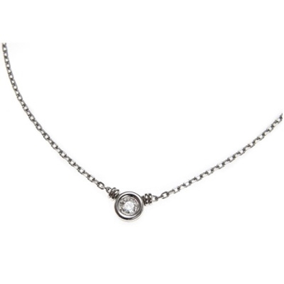 Picture of Scott Kay 18K White Gold Necklace - .15CTW