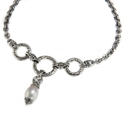 Picture of Scott Kay Pearl Drop Necklace