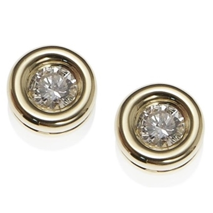 Picture of Scott Kay 18K Yellow Gold Earrings - .3CTW