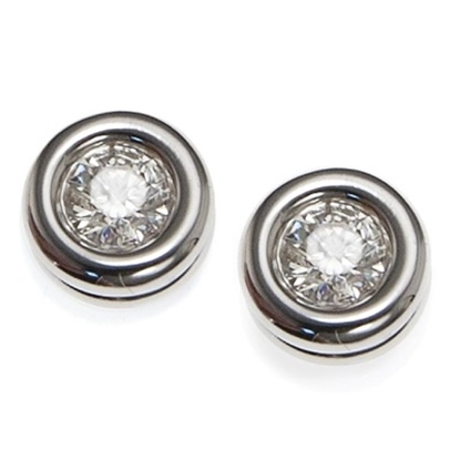 Picture of Scott Kay 18K White Gold Earrings - .3CTW