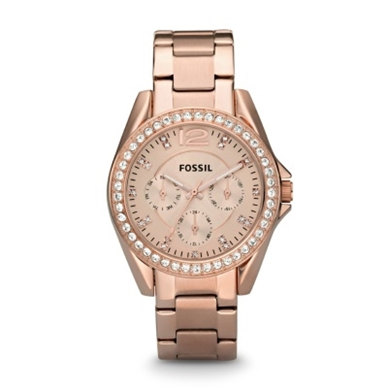 Picture of Fossil Ladies' Riley Multifunction Watch - Rose Gold-Tone