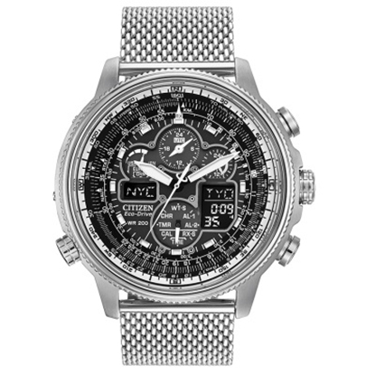 Picture of Citizen Men's Chronograph Watch w/ Black Dial & Mesh Bracelet