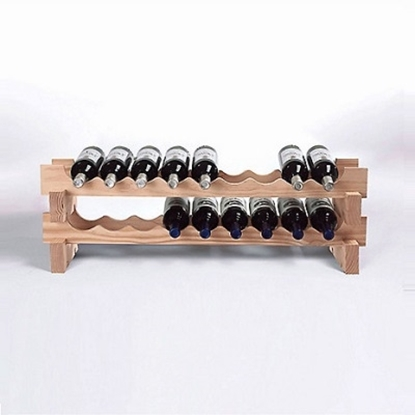 Picture of Wine Enthusiast 18-Bottle Stackable Wine Rack Kit - Natural