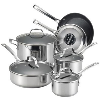 Picture of Circulon® Genesis 10-Piece Stainless Steel Cookware Set