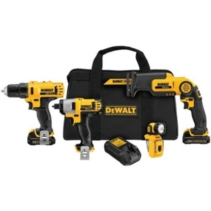 Picture of DeWalt® 12V MAX Li-Ion 4-Tool Combo Kit