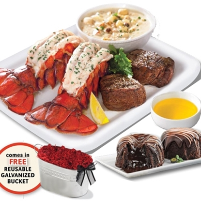 Picture of Lobster Gram Premium Surf and Turf Gift Bucket