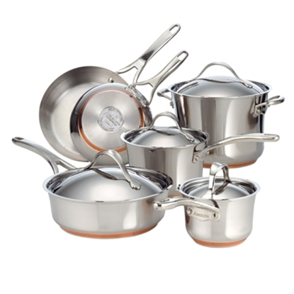 Picture of Anolon® Nouvelle Stainless Steel 10-Piece Cookware Set
