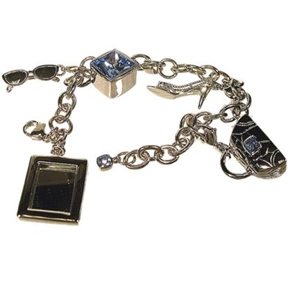 Picture of Judith Leiber Charm Bracelet  - Light Sapphire