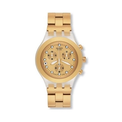 Picture of Swatch® Full Blooded Chronograph Watch -Gold